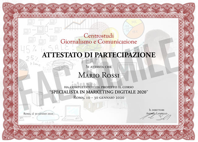 certificati mini master marketing roma